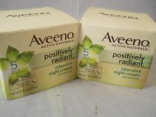 Aveeno Active Naturals Positively Radiant Intensive Night Cream 1.7oz (2pks) new