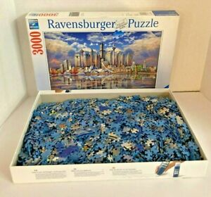 Ravensburger 3000 piece Puzzle  Skyline Of Famous Buildings  North American Rare