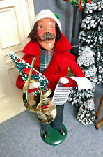 "Byers Choice The Carolers 1990 Traditional Adult 13"" Male Caroler with Post Horn"