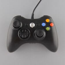 Wired Game Gaming Handle Controller Remote Pad Gamepad For XBOX 360 PC Black