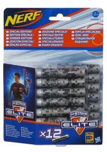 NERF - N Strike Elite - Special Edition Foam Darts x12 - GREY A2997 New & Sealed
