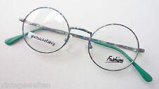 Lustige runde Nickelbrille kunterbunt Metallgestell kleine Form Professorbrille