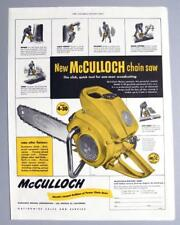 10x14 Original 1953 McCulloch 4-30 Chain Saw Ad SLICK TOOL FOR 1-MAN WOODCUTTING