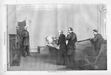 General Scott's Death Bed   -  1786 - 1866  -   by Thomas Nast  - Antique Print