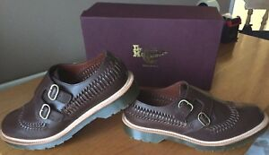 Dr Martens Braider brown beaumont leather shoes UK 11 EU 46 Made in England