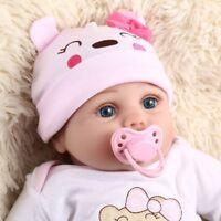 55cm Silikon Lebensecht Mädchen Reborn Baby Puppe Babypuppe mit Kleider