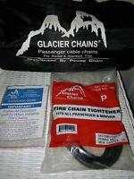 NEW SNOW CHAINS Glacier Snow Chains 1042 Passenger Cable Tire Set of 2 Chains