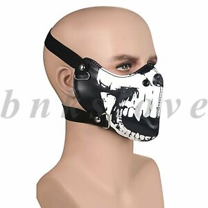 Seal Skull Half Face Mouth Cover Anti-dust Motorcycle Biker Shield Halloween