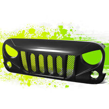 FOR 07-17 JEEP WRANGLER MATTE BLACK FRONT BUMPER GRILLE ANGRY BIRD STYLE GRILL