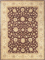 9X12 Hand-Knotted Ariana Carpet Traditional Brown Fine Wool Area Rug D47468