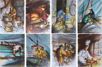 POULET Raymond : Les métiers anciens (5) - 8 LITHOGRAPHIES signées #450ex
