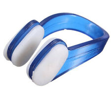 1 Set Waterproof Soft Silicone Swimming Diving Nose Clip+Ear Plug Case Color BL