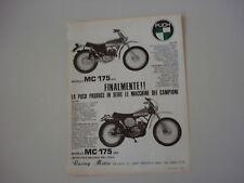 advertising Pubblicità 1974 MOTO PUCH MC 175