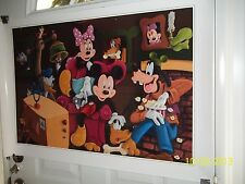 RARE DISNEY MICKEY & MINNINE MOUSE PLUTO GOOFEY GANG POSTER 36 x 24  LOOK & BUY