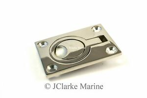 Flush lift ring / hatch pull handle made from stainless steel (316 A4)