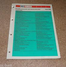 Inspektionsblatt Yamaha DT 50 M Typ 2M4 Baujahr 1983