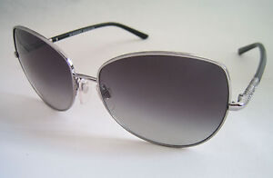 BURBERRY SUNGLASSES BE 3054 1006/8G SILVER BLACK GENUINE BNWT