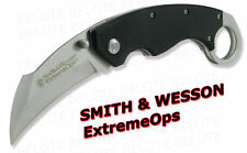 Smith & Wesson ExtemeOps Karambit G-10 Folder CK33 NEW