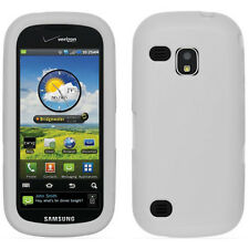 Wht Soft Silicon Gel Skin Cover Case SAMSUNG Verizon SCH i400 Continuum Galaxy S