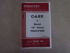 Case S SC SO Tractor Operator's Manual