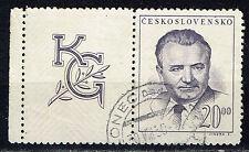 Czech First Communist Dictator Klement Gottwald stamp with label 1948