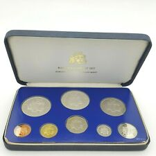 Barbados 8 Sterling Silver Coin Proof Set 1976