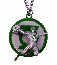 Green Lantern Comic Pendant Necklace Charm Logo US American Superhero Character