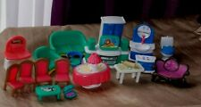 Vintage plastic dolls house furniture lot