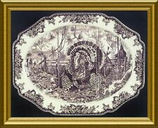 "MINT, NEVER USED WILLIAMS SONOMA  ""HIS MAJESTY"" WEDGWOOD HUGE TURKEY PLATTER"