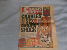 More details for sunday sport - september 14th, 1986 - sam fox- first edition - no.1