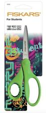 FISKARS 18cm Students Scissors - Long Blade and Pointed Tip - Anti-microbial