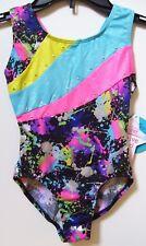Moret Active Girl Foil Splash Dry Tech Gymnastics Tank Leotard Sz M 8-10