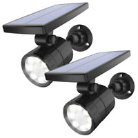2pc Power Solar 8&LED Landscape Spotlights Waterproof Outdoor Garden Lawn Lamp