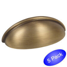 *5 Pack* Cosmas Cabinet Hardware Brushed Antique Brass Cup Handle Pull #783BAB