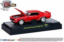 1:64 M2 Machines AUTO-MODS AM05 = Red Chevy 1969 Camaro SS/RS 396 *NIB*