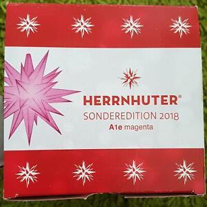 Original Herrnhuter Stern A1e magenta 13 cm Sonderedition 2018 neu und OVP