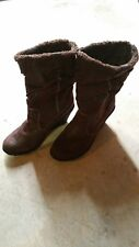 Woman Brown  Boot, Wedge Heel, Sz 10 Great For Winter stylish and gorgeous