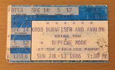 1986 DEPECHE MODE BLACK CELEBRATION TOUR LOS ANGELES CONCERT TICKET STUB 12