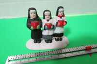 "3"" x 2"" Vintage Ceramic Trio Of Singing Nuns Figurine"