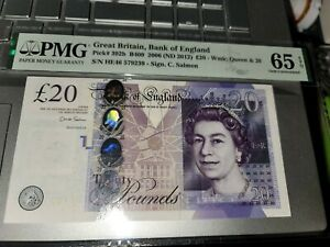 P-392a 2012 20 Pounds Great Britain, Bank of England PMG 65EPQ GEM