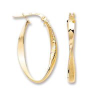 375 9ct Yellow Gold 9ct Oval Twist Ribbed and Plain 375  - Fully Hallmarked