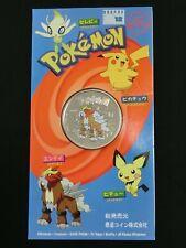 Niue 2002 Pokemon Serie Entei 1 dólares de cobre-níquel color moneda en tarjeta