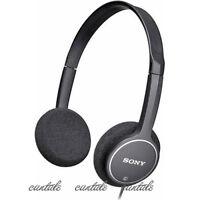 Genuine Sony MDR-222KD Lightweight Childrens Student stereo Headphones Black