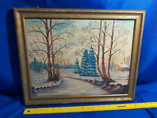 Nashville Brown County Indiana Original Oil Painting Antique Frame Stuart Winter