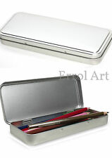 Empty Tin. New Plain Pencil Tin. Many Uses.  (175mm x 70mm x 19mm) UK SELLER