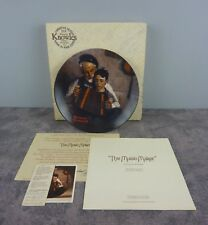 Knowles Norman Rockwell The Music Maker Collector Plate + Box / Accordion / 1981