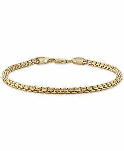 Esquire Men's Jewelry Box Link Chain Bracelet in 14k Gold, MSRP $250.00
