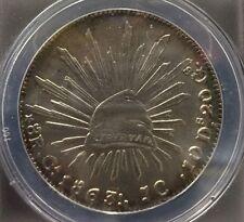 1863-Ca,Jc 8R Mexico AU 50 DETAILS