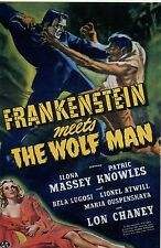 RARE STILL  FRANKINSTEIN MEETS THE WOLFMAN COLOR ORIG ARTWORK  REPRINTED