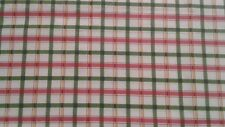 Green red and yellow plaid stripe Valance